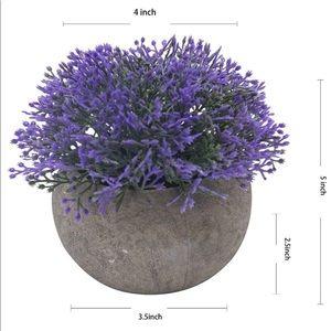 Fake Purple Faux Greenery Topiary Shrubs